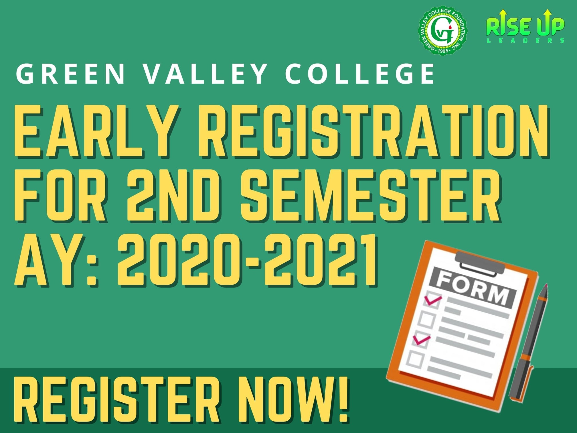 2nd Semester Early Registration AY:2020-2021